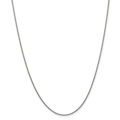 Picture of 10k White Gold 1.5mm Solid Polished Cable Chain Necklace