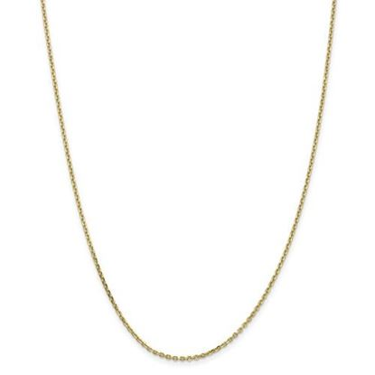 Picture of 10k Yellow Gold 1.65mm Solid Diamond Cut Cable Chain Necklace