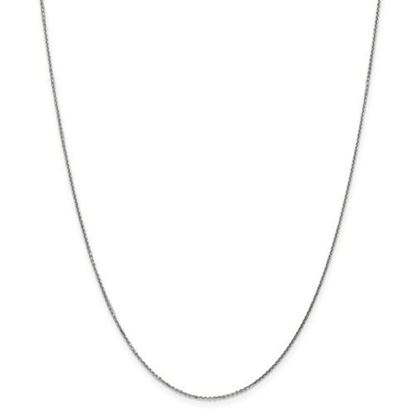 Picture of 10k White Gold .95mm Solid Diamond Cut Cable Chain Necklace