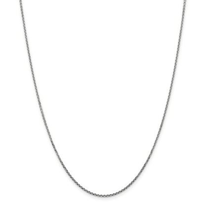 Picture of 10k White Gold 1.3mm Solid Diamond Cut Cable Chain Necklace