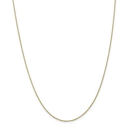 Picture of 10k Yellow Gold .9mm Cable Chain Necklace