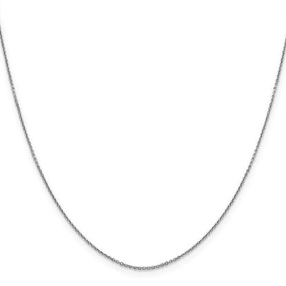 Picture of 10k White Gold 0.90mm Diamond Cut Cable Chain Necklace