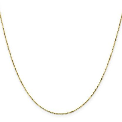 Picture of 10k Yellow Gold 0.90mm Diamond Cut Cable Chain Necklace