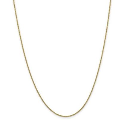 Picture of 10k Yellow Gold 1.5mm Cable Chain Necklace