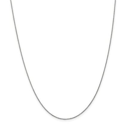 Picture of 10k White Gold .9mm Polished Cable Chain Necklace