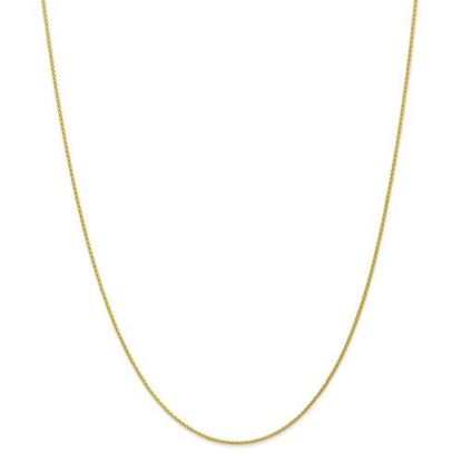 Picture of 10k Yellow Gold 1.2mm Parisian Wheat Chain Necklace