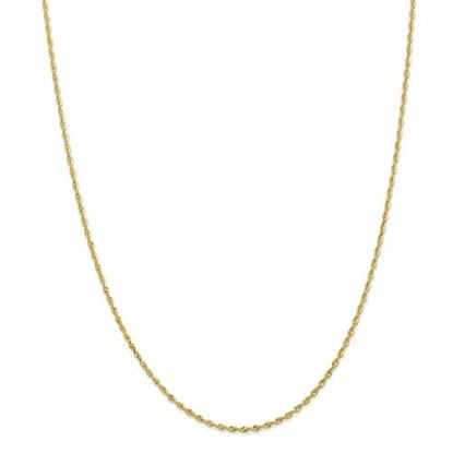 Picture of 10k Yellow Gold 1.85mm Diamond Cut Quadruple Rope Chain Necklace