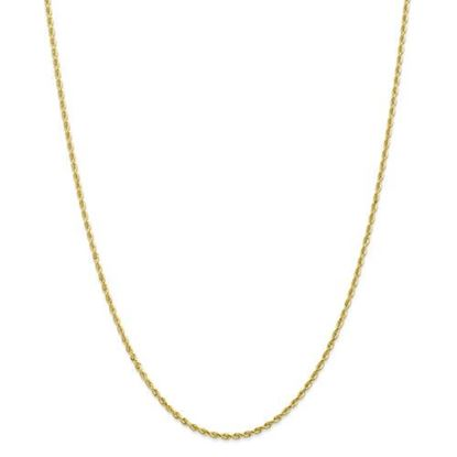 Picture of 10k Yellow Gold 2.00mm Diamond Cut Quadruple Rope Chain Necklace