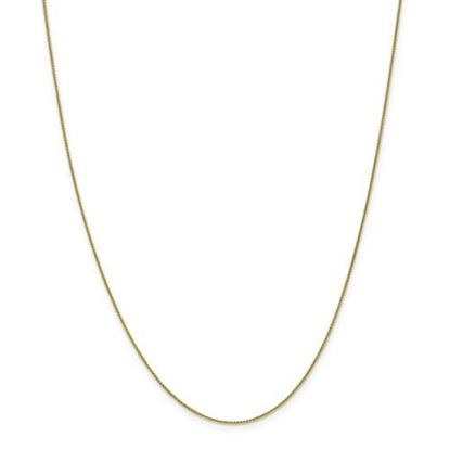 Picture of 10k Yellow Gold 0.80mm Spiga Pendant Chain Necklace