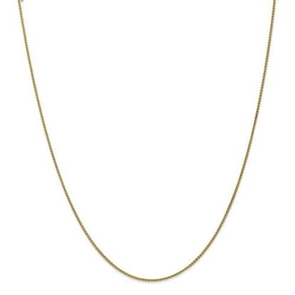 Picture of 10k Yellow Gold 1.25mm Spiga Chain Necklace