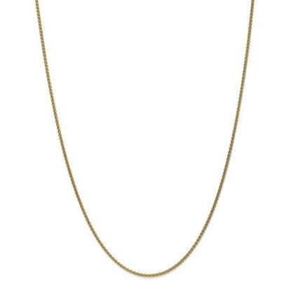 Picture of 10k Yellow Gold 1.65mm Solid Polished Spiga Chain Necklace