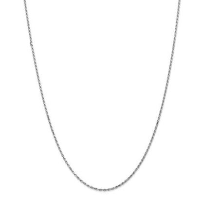 Picture of 10k White Gold 1.6mm Machine Made Diamond Cut Rope Chain Necklace