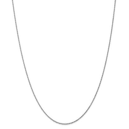 Picture of 10k White Gold .8mm Polished Lite Baby Rope Chain Necklace