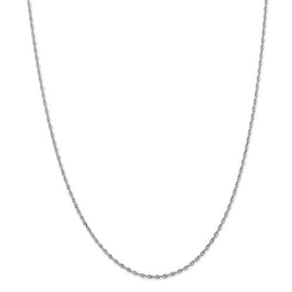 Picture of 10k White Gold 1.85mm Diamond Cut Quadruple Rope Chain Necklace