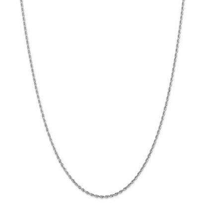 Picture of 10k White Gold 2.00mm Diamond Cut Quadruple Rope Chain Necklace