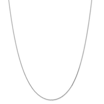 Picture of Leslie's 14k White Gold 1.0mm Round Diamond Cut Wheat Chain Necklace