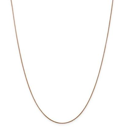Picture of Leslie's 14k Rose Gold .8mm Baby Spiga Wheat Chain Necklace