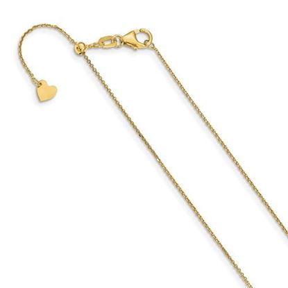 Picture of 22 inch Leslie's 14k Yellow Gold 1 mm Diamond Cut Adjustable Cable Chain Necklace