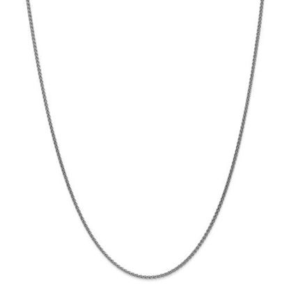 Picture of Leslie's 14k White Gold 1.65mm Spiga Wheat Chain Necklace