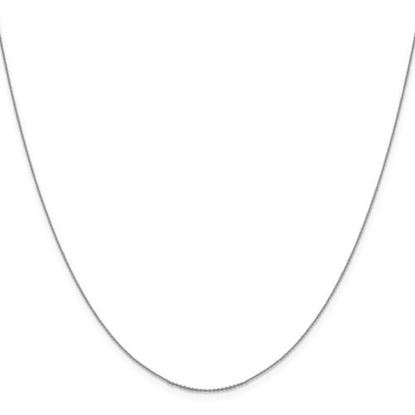 Picture of Leslie's 14k White Gold .80 mm Diamond Cut Cable Chain Necklace
