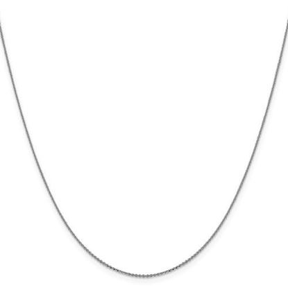 Picture of Leslie's 14k White Gold .90 mm Diamond Cut Cable Chain Necklace