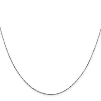 Picture of Leslie's 14k White Gold .95 mm Round Diamond Cut Double Curb Snake Chain Necklace