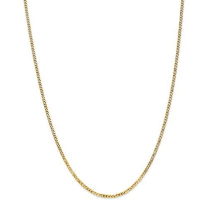 Picture of Leslie's 14k Yellow Gold 2.2mm Flat Beveled Curb Chain Necklace