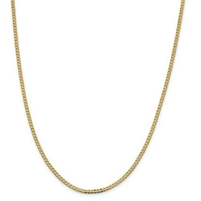 Picture of Leslie's 14k Yellow Gold 2.3mm Flat Beveled Curb Chain Necklace