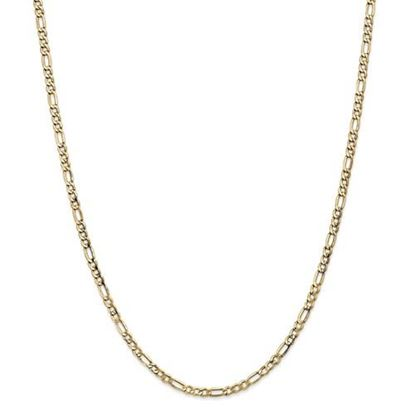 Picture of Leslie's 14k Yellow Gold 3.5mm Semi-Solid Figaro Chain Necklace