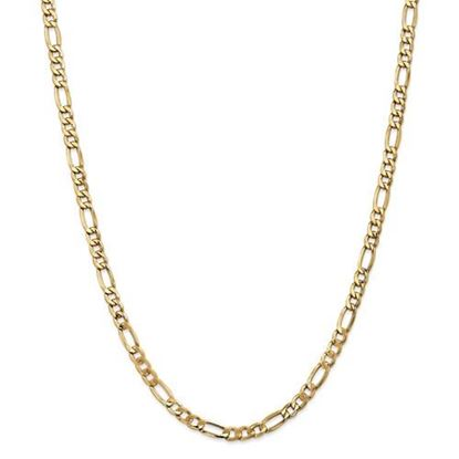Picture of 18 inch Leslie's 14k Yellow Gold 5.35mm Semi-Solid Figaro Chain Necklace