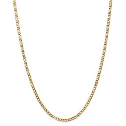 Picture of Leslie's 14k Yellow Gold 3.35mm Semi-Solid Curb Link Chain Necklace