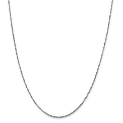 Picture of Leslie's 14k White Gold 1.5mm Spiga Wheat Chain Necklace