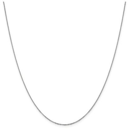 Picture of Leslie's 14k White Gold 1.1 mm Flat Cable Chain Necklace