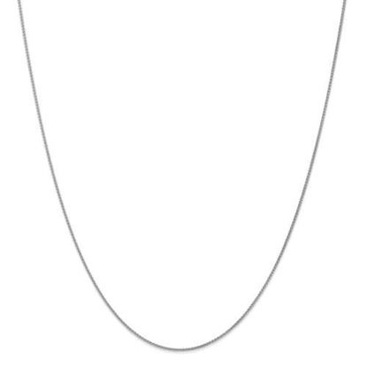 Picture of Leslie's 14k White Gold 1mm Spiga Wheat Chain Necklace
