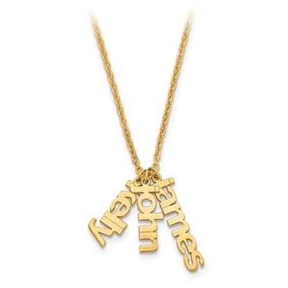 Picture of Personalized Gold-plated Mom's Name Charms Necklace