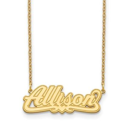 Picture of Personalized Gold-plated Etched Nameplate Necklace