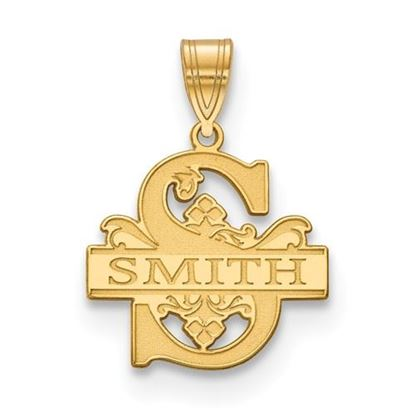 Picture of Personalized Gold Plated Letter and Family Name Charm Pendant