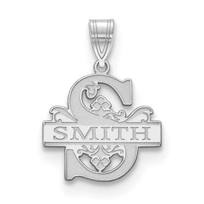 Picture of Personalized Sterling Silver Letter and Family Name Charm Pendant