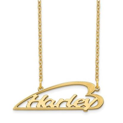 Picture of Personalized Gold-plated Side Heart Small Nameplate Necklace
