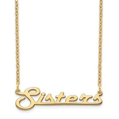 Picture of Personalized Gold-plated Underlined Small Nameplate Necklace
