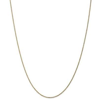 10k Yellow Gold 1.15mm Machine Made Diamond Cut Rope Chain Necklace