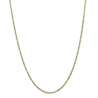 10k Yellow Gold 1.75mm Polished Figaro Chain Necklace