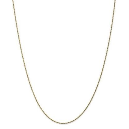 10k Yellow Gold 3.5mm Semi-Solid Figaro Chain Necklace