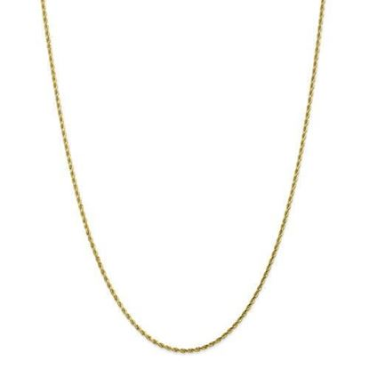 10k Yellow Gold 1.75mm Diamond Cut Rope Chain Necklace