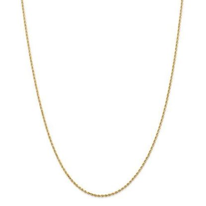 14k Yellow Gold 1.50mm Diamond Cut Rope Chain Necklace
