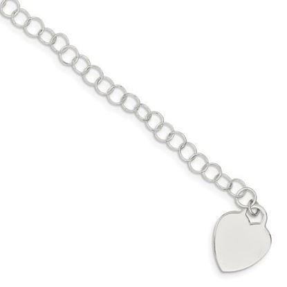 7.25 inch Sterling Silver Round Link Bracelet