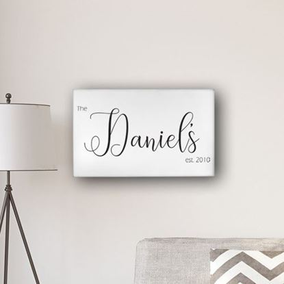 "Personalized Last Name Modern Farmhouse Style 14' x 24"" Canvas"