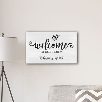 Welcome To our Home Modern Farmhouse Style 14 x 24 Canvas