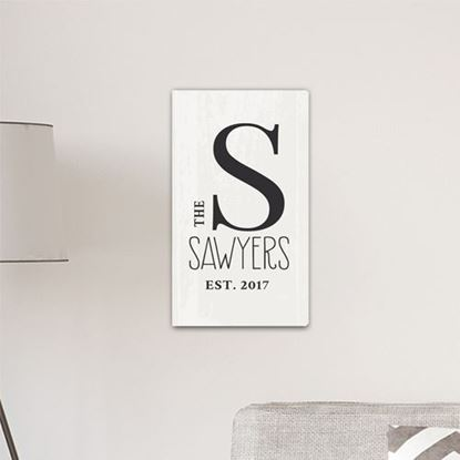 Personalized Monogram Cream Color Farmhouse Style 14x24 Canvas Sign