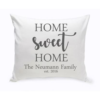 Personalized Home Sweet Home 16x16 Throw Pillows